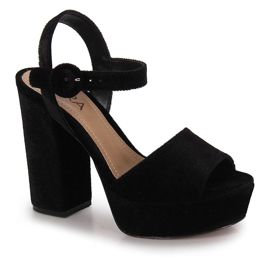 898c8c6932 sandália salto feminina lara - preto. Carregando zoom.