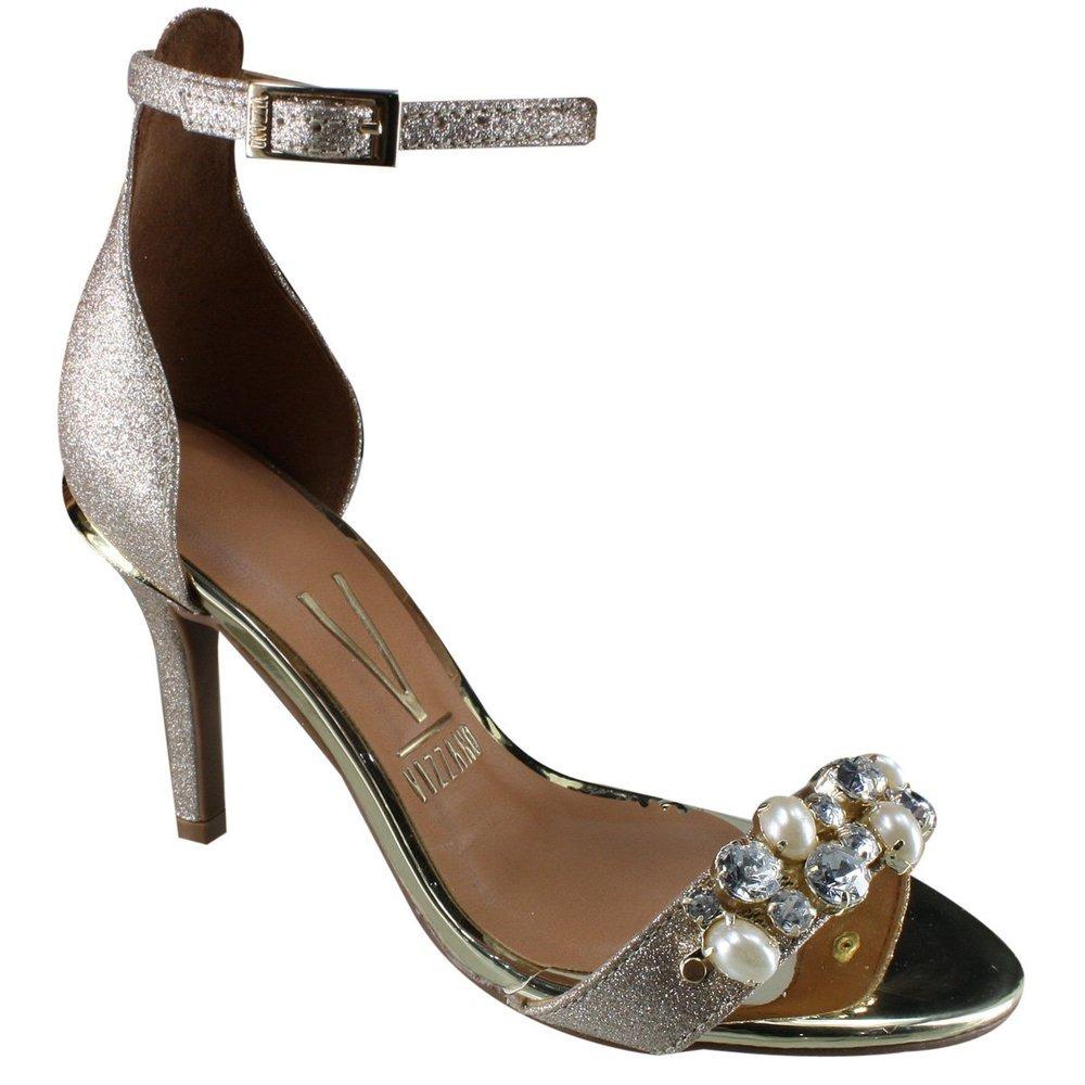 8d9d9f773 sandália salto feminina vizzano glitter dourado 6367.108. Carregando zoom.