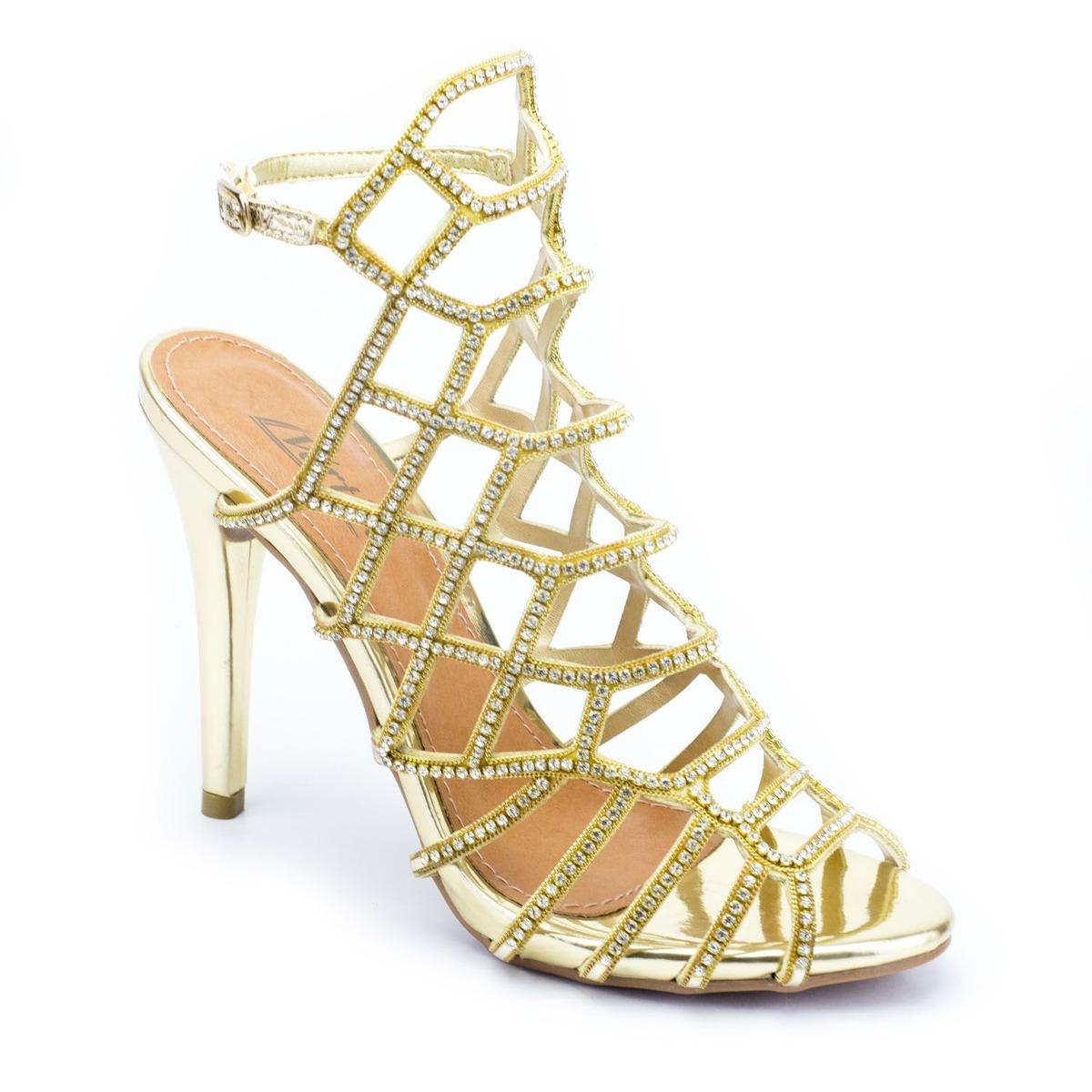 b0c757aaa sandália salto fino dourada - vértice. Carregando zoom.