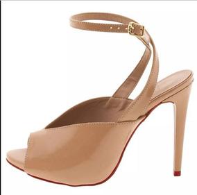 0a183c69b9 Sandália Branca Salto Fino Verniz - Sapatos no Mercado Livre Brasil