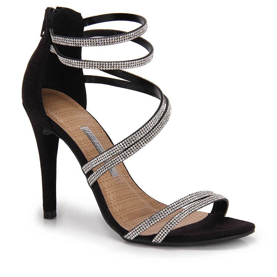 b477e0925 sandália salto fino feminina via marte strass - preto. Carregando zoom.