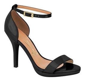 e4227a42d9 Sandalia Vizzano Salto Fino Preta Sapatos - Sapatos com o Melhores ...