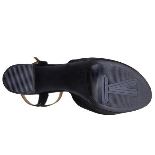 sandália salto grosso alto confortável vizzano 6282100