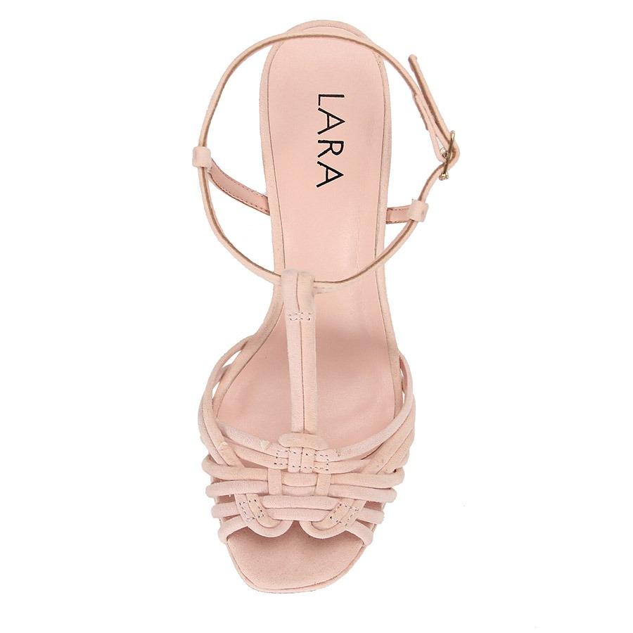 273da39518 sandália salto grosso alto lara - rosa. Carregando zoom.