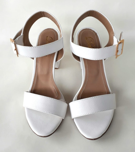 sandália salto grosso alto/médio bloco aberta várias cores