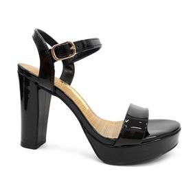 8edf661d3 Sapato Salto Meia Pata Grosso Via Uno - Sapatos no Mercado Livre Brasil