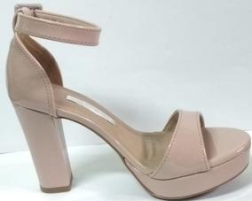 21aee3243 Sandália Via Marte Feminina Verniz Salto Grosso 12001 - Sapatos no ...