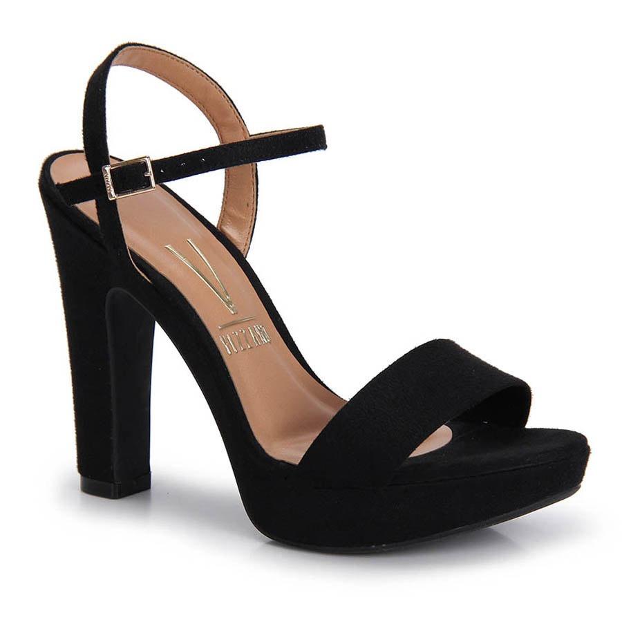 c7a714b43 sandália salto grosso vizzano - preto. Carregando zoom.