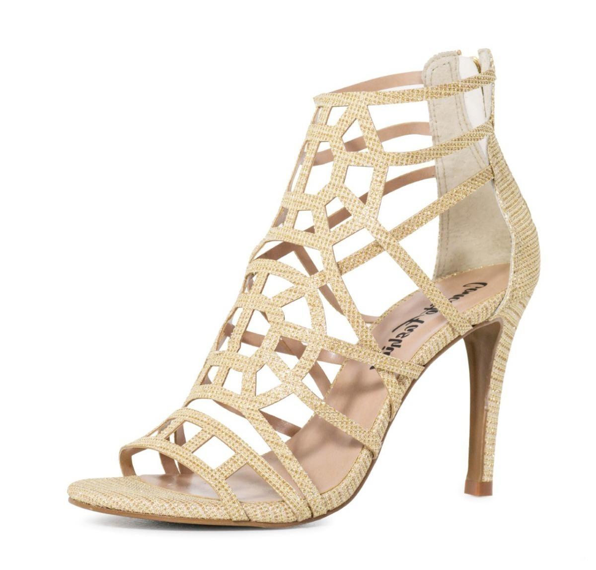 9cf37ca105 Sandalia Salto Luxo Dourada 731529 Promocao Liquidacao - R  69
