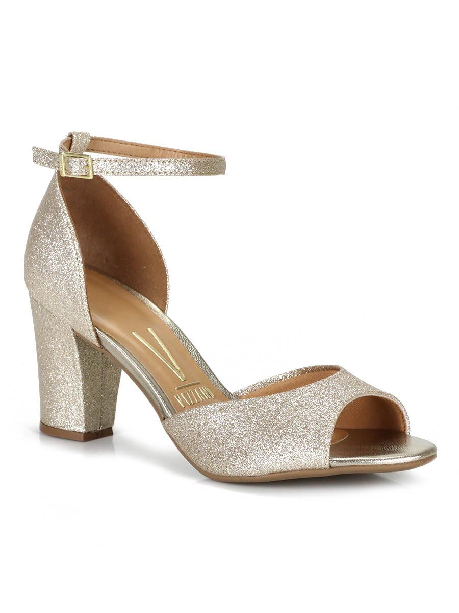 58478bbf1 sandália salto vizzano glitter. Carregando zoom.