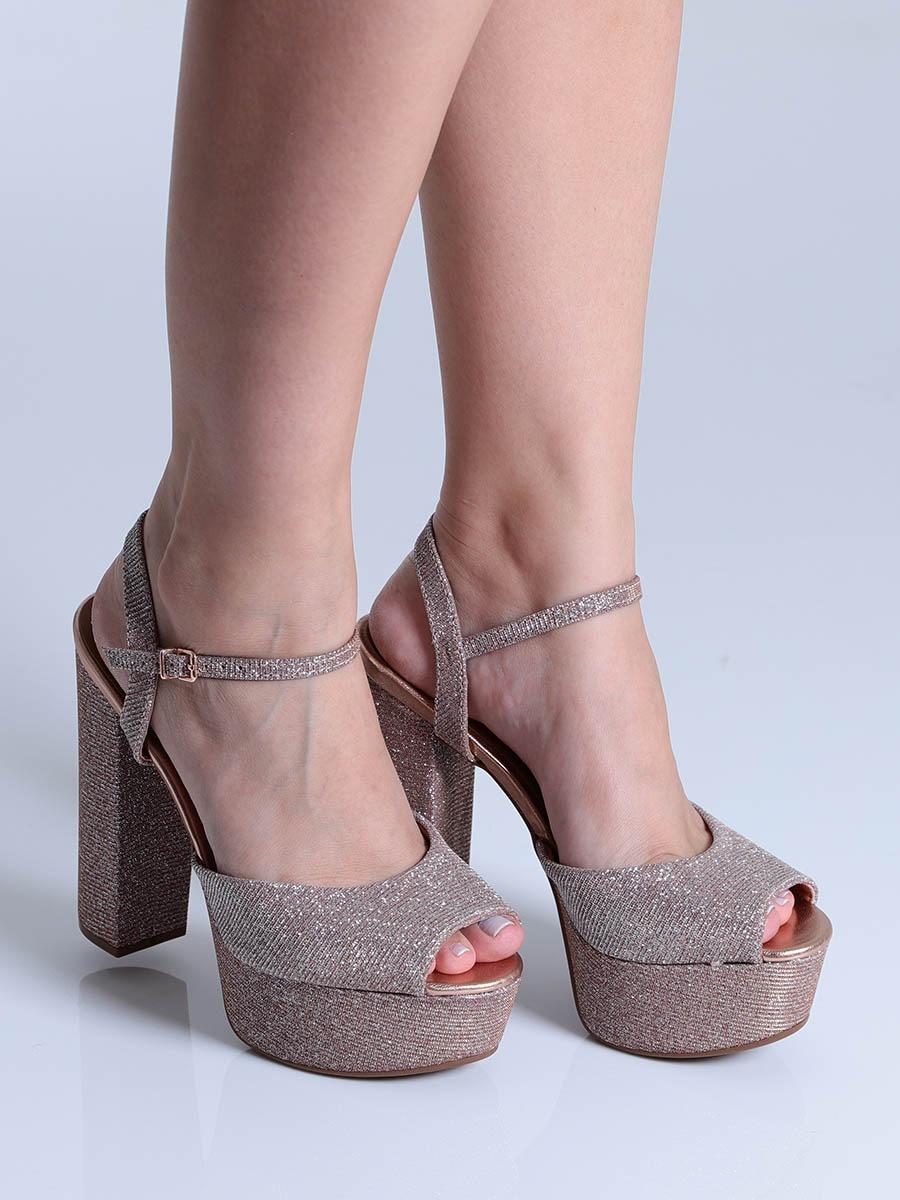 ba72a95e0 sandália salto vizzano glitter. Carregando zoom.