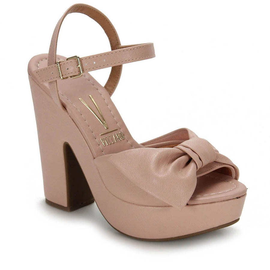 92e220992f sandália salto vizzano laço - rosa. Carregando zoom.