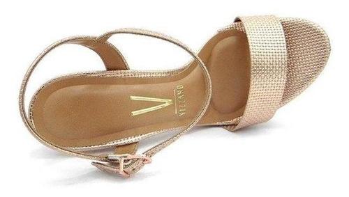 sandália salto vizzano metalizado/ouro/rosado 6292.200
