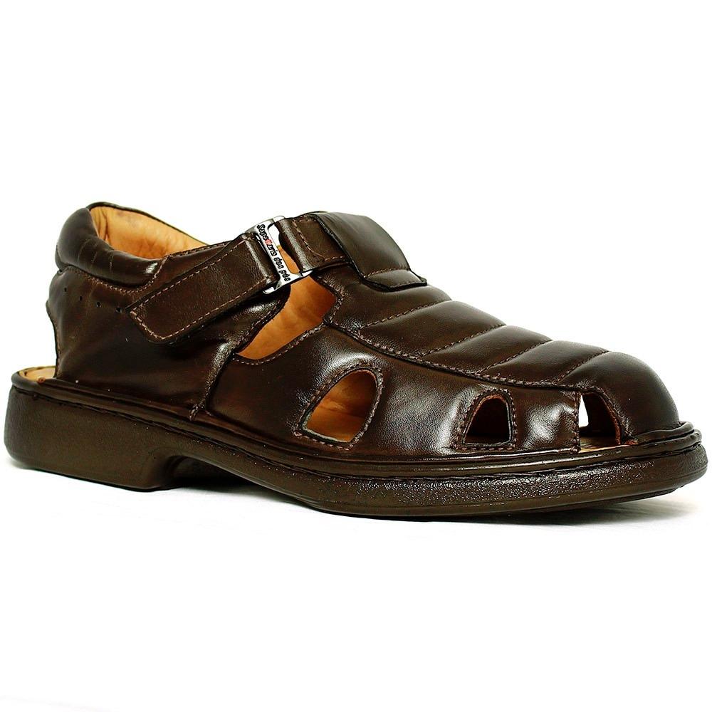 01dcd4f0f1 sandália sapatilha chinelo masculina antistress 100% couro. Carregando zoom.