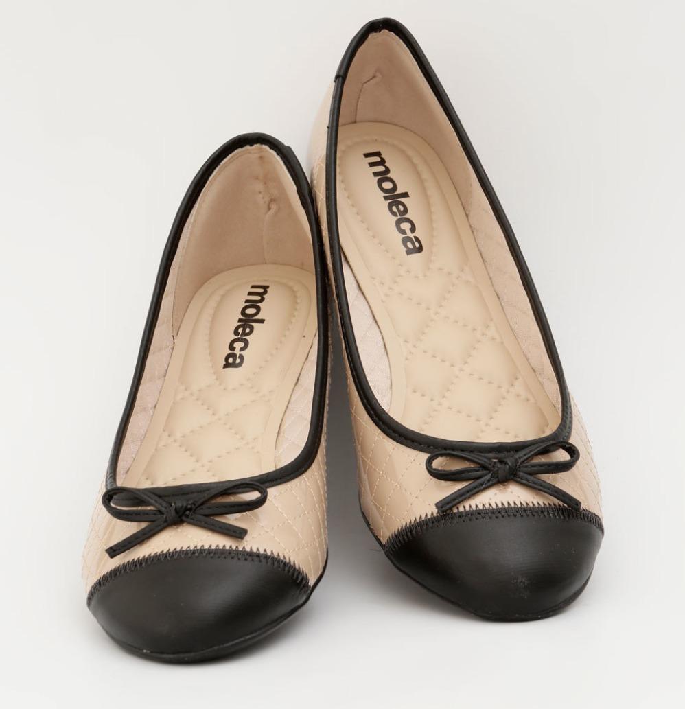 756cc3077e sandalia sapatilha feminina basica bege/preta verniz preco. Carregando zoom.