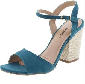 334ef9da49 Sandalia Anabela Via Marte Azul - Sapatos no Mercado Livre Brasil