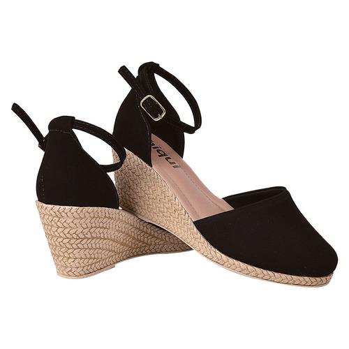 sandalia sapato feminina anabela salto alto tratorada sn001