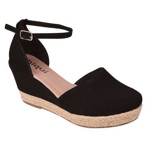 sandalia sapato feminina anabela salto alto tratorada sn002