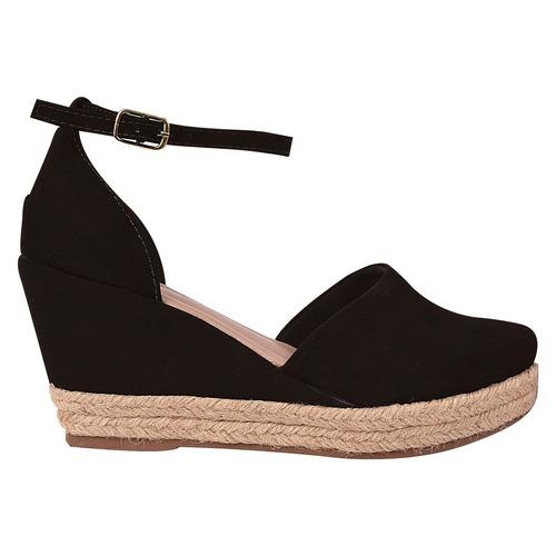 sandalia sapato feminina anabela salto alto tratorada snp45