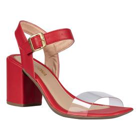 Sandália Sapato Feminina Salto Grosso Bloco Confortável Alto