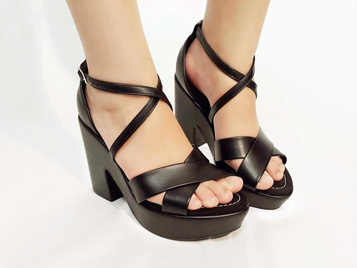 c36965a1e sandalia sapatos femininos moleca salto alto plataforma. Carregando zoom.