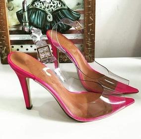 843a6ae06 Scarpin Transparente Salto Baixo - Sapatos com o Melhores Preços no Mercado  Livre Brasil