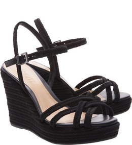 9f1e7ac38 Sandália Anabela Schutz Preta - Sapatos com o Melhores Preços no ...