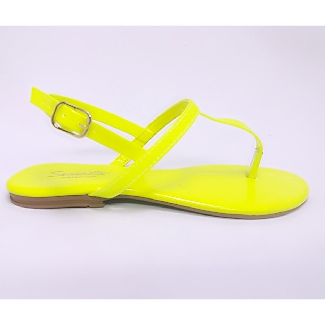 074a1fd0a sandália sensatta rasteira neon. Carregando zoom.