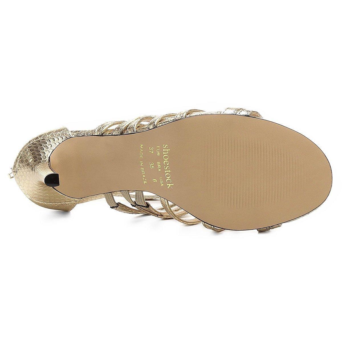 3d14965ca sandália shoestock festa recortes tiras snake feminina. Carregando zoom.