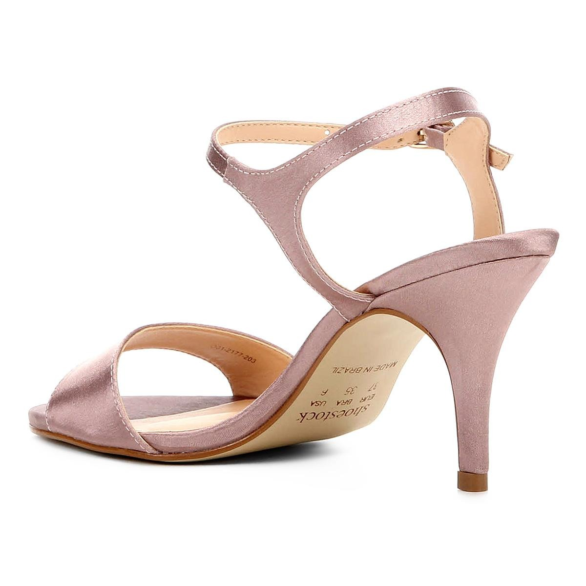 58980fa88a sandália shoestock salto fino cetim feminina. Carregando zoom.