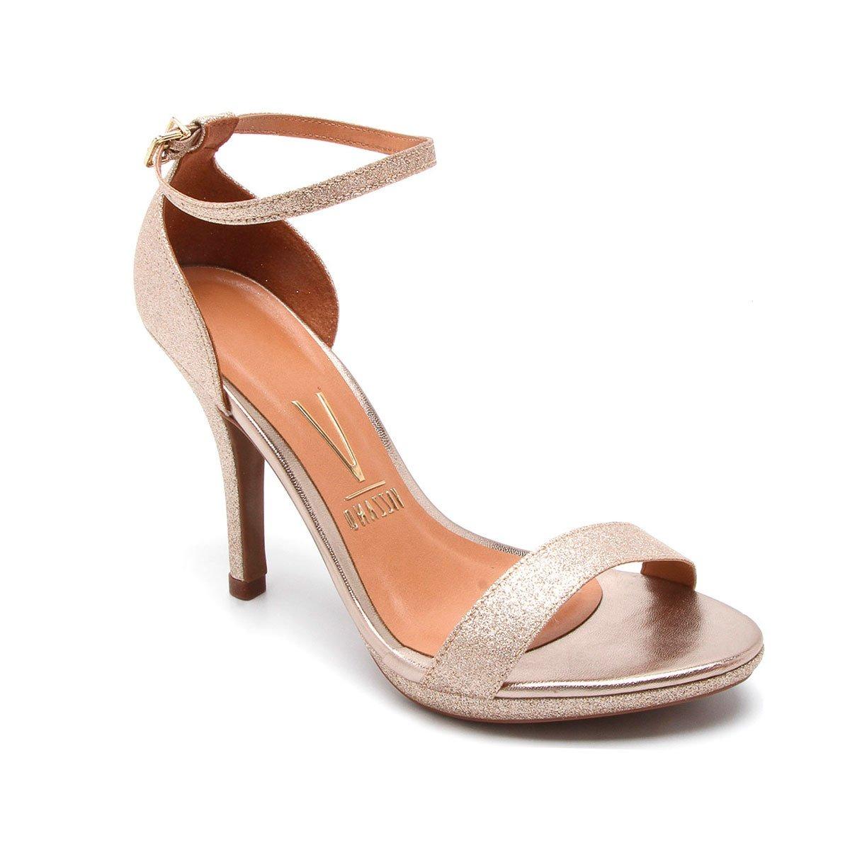 9306048c5 sandália social dourada vizzano glitter salto alto social. Carregando zoom.