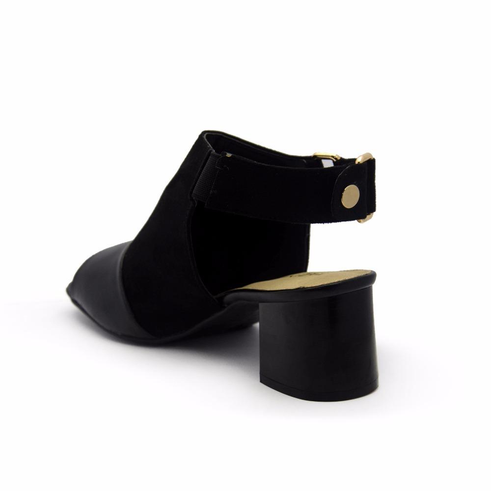 1268a72500 sandália social feminina salto grosso facinelli by mooncity. Carregando zoom .
