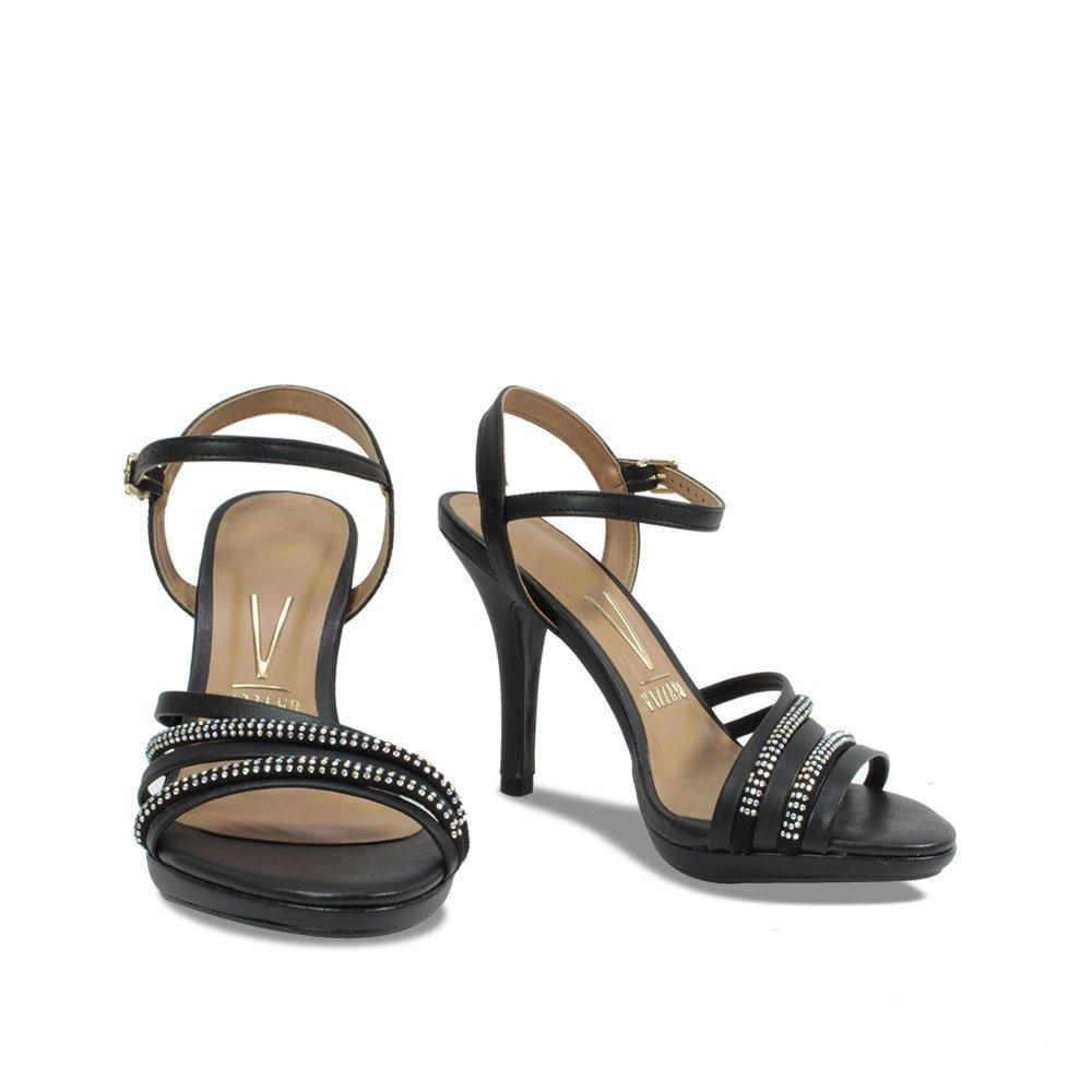 2eb657ce4e sandália social feminina vizzano preta com strass 6210.473. Carregando zoom.