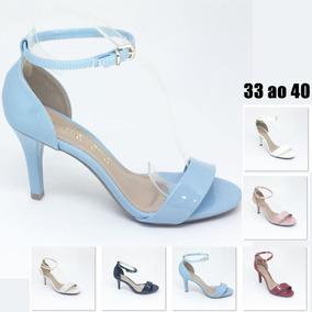 03133c51dc Sapato Azul Marinho Mariotta - Sapatos para Feminino Nude no Mercado Livre  Brasil