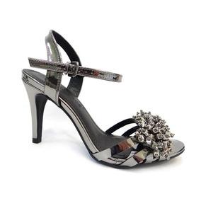 fd277e8a0 Sandalia Salto Fino Grafite - Sapatos com o Melhores Preços no ...