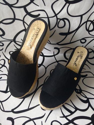 sandalia sueca cocuiza negra calzado de moda envío gratis