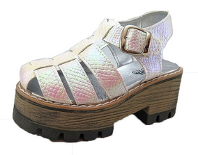 d9f7ad8f Sandalias Simil Reptil Color Turquesa Zapatos - Ropa y Accesorios en ...