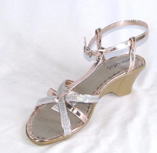 sandalia tacon 1270 bronce talla de 35 a 40 mujer moda niña