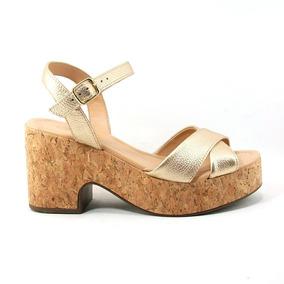 Con Cuero Mujer Sandalias De Plataforma En Zapatos Corcho rWdBCoxe