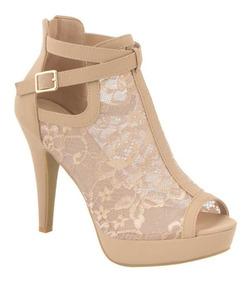 Yaeli Mujer Encaje Fashion 182001 Sandalia 11cms Beige Tacón iTlZOXwkPu
