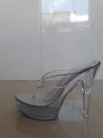 31d30d9a8 Tamanco Prata Com Salto Transparente Lindo - Sapatos com o Melhores Preços  no Mercado Livre Brasil