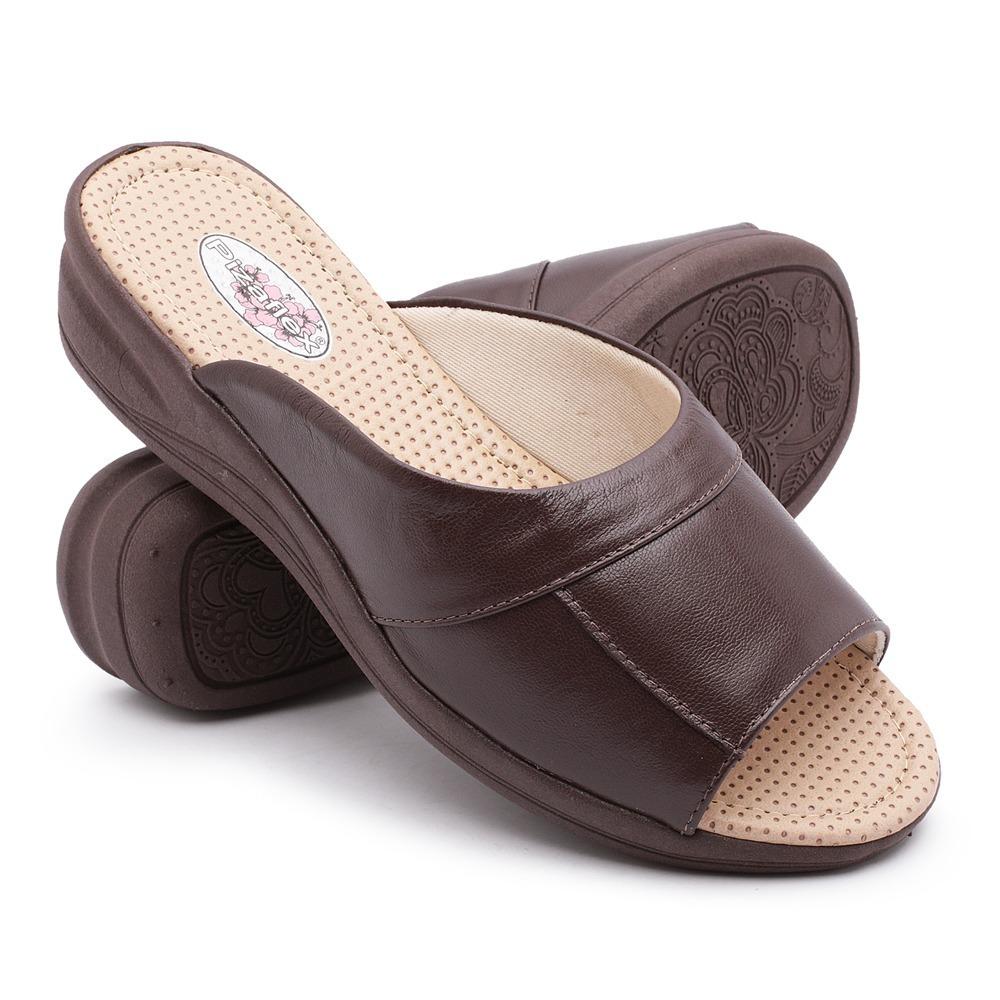 5f438f7a6b sandália tamanco feminino ortopédico confort macio pizaflex. Carregando zoom .