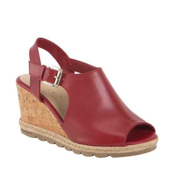 27 Caucho Medio 6cm Rojo Sandalia Tbotin Piel 22 A Tacon H9EDIY2W