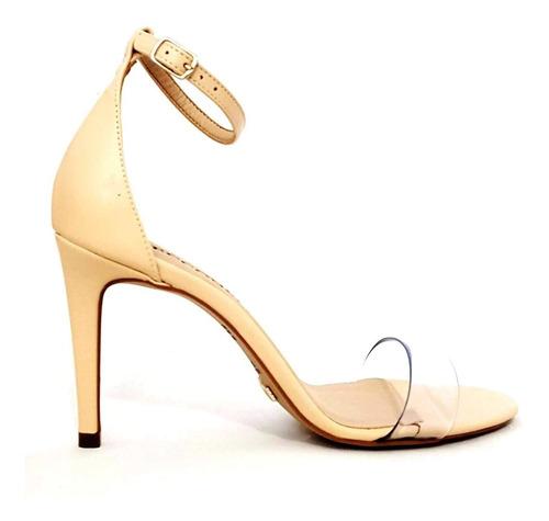 sandália tira de vinil salto alto fino 11 cecconello 1339012