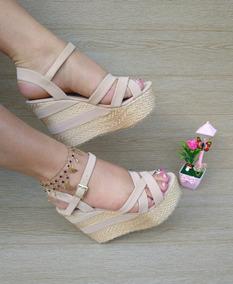 Mujeres Rosada Plataforma De Moda Tiras Damas Sandalia nk0wPX8O