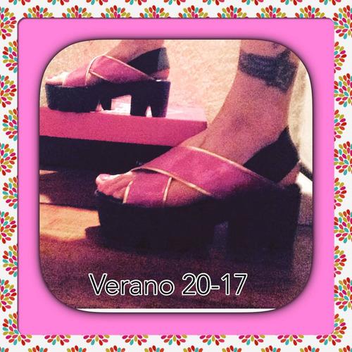 sandalia tiras rosa