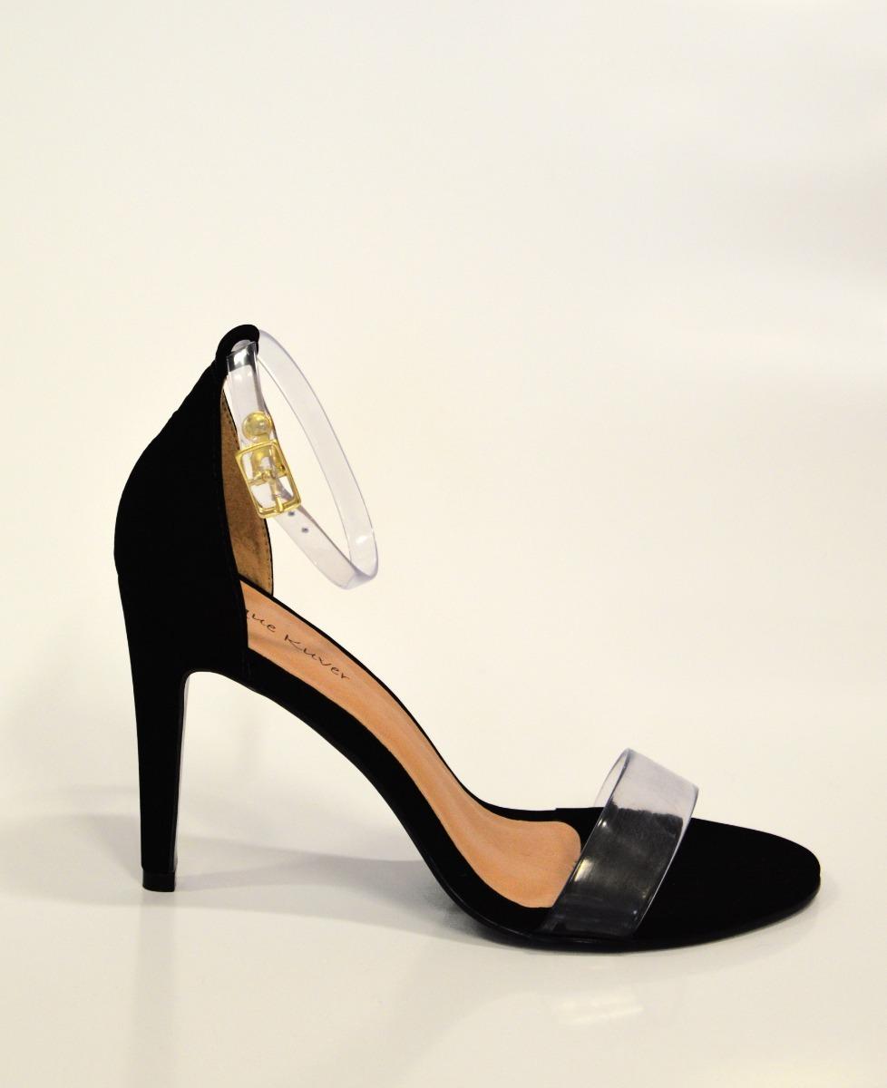 ae4315014b sandália transparente vinil tira tornozelo salto fino r 76. Carregando zoom.
