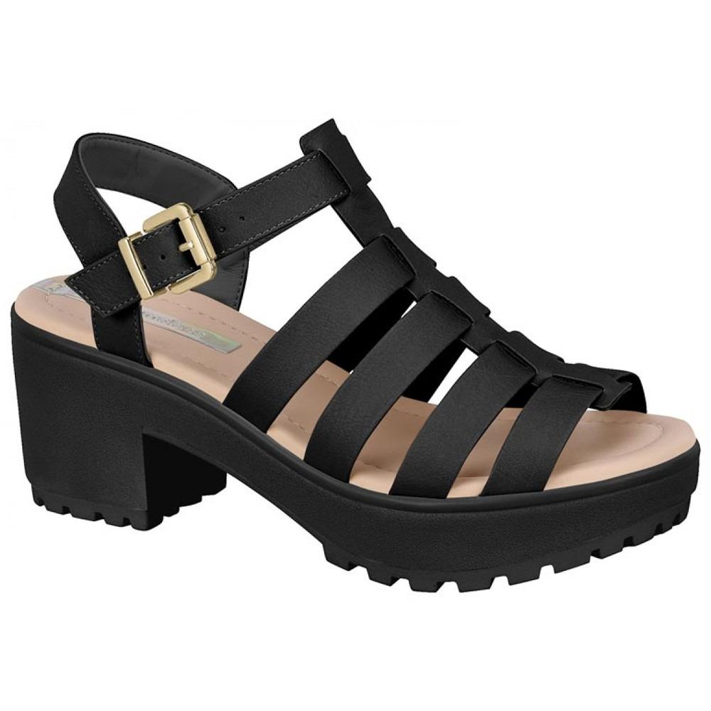 0b1fc90be sandália tratorada feminina moleca - nude e preta. Carregando zoom.