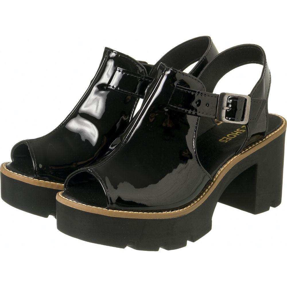 7b60d4a728 sandália tratorada feminina verniz preta salto. Carregando zoom.