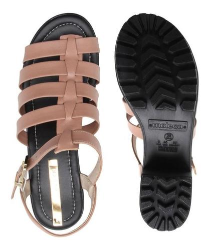 sandália tratorada moleca nude 5439